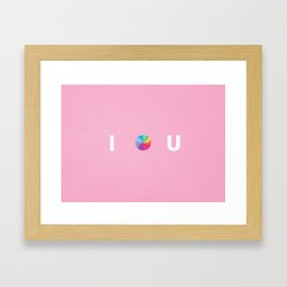 I .... U Framed Art Print