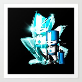 One Blue Knight  Art Print