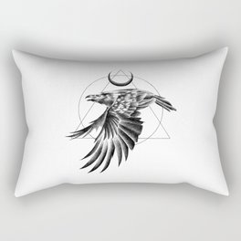 THE RAVEN AND THE MOON Rectangular Pillow