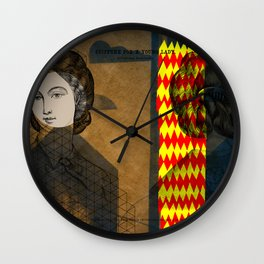 Coiffure for a young lady Wall Clock