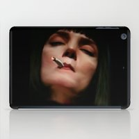 mia wallace iPad Cases featuring MIA in the dark by Inception of The Matrix