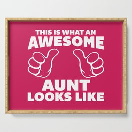 Awesome Aunt Funny Quote Serving Tray
