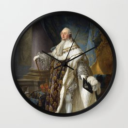 Antoine-François Callet - Louis XVI, King of France, in His Grand Royal Costume, 1779 Wall Clock