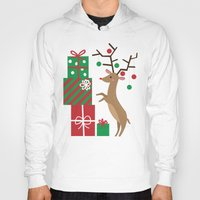 reindeer Hoodies featuring Reindeer by Reg Silva / Wedgienet.net