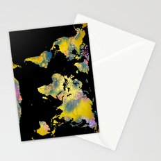 world map 36 Stationery Cards