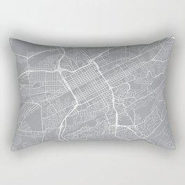 Birmingham Map, Alabama USA - Pewter Rectangular Pillow
