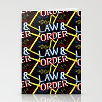 law Stationery Cards featuring LAW & ORDER by Josh LaFayette