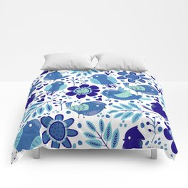 Nature with birds V2 Comforters