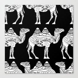 camel black Canvas Print