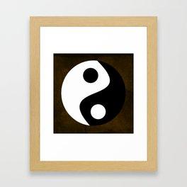 Yin and Yang - Brown Framed Art Print