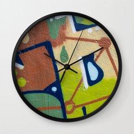 graffiti painting closeup - graffiti artwork Wall Clock