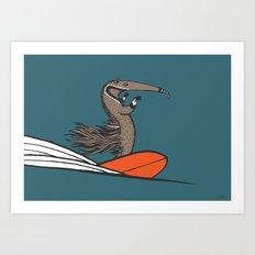 Surfing Anteater Art Print