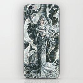 Black smoke, White feathers iPhone Skin
