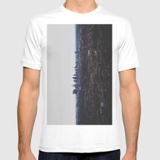 Los Angeles in fog White MEDIUM Mens Fitted Tee