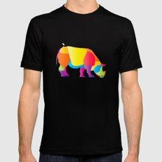 Paper Craft Rhino Black MEDIUM Mens Fitted Tee