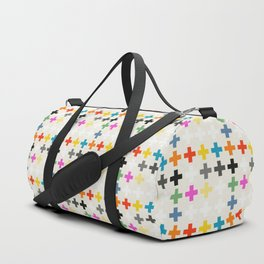 Cross Pattern Duffle Bag