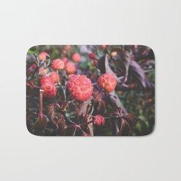 Bright Berries I - Macro Nature Photography Bath Mat