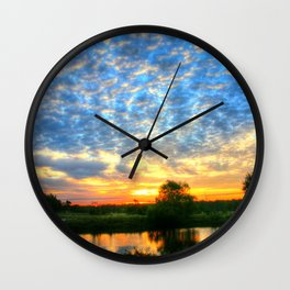 November East Texas Sunrise Wall Clock