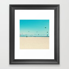 KITE SURFING Framed Art Print