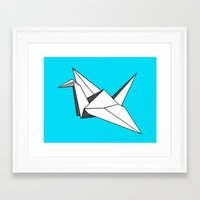 origami Framed Art Prints featuring origami by elyinspira