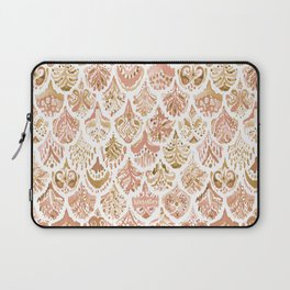 PAISLEY MERMAID Rose Gold Fish Scales Laptop Sleeve