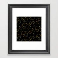 Rich / Boring (Black) Framed Art Print
