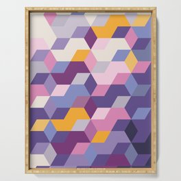 Violet Pattern Serving Tray