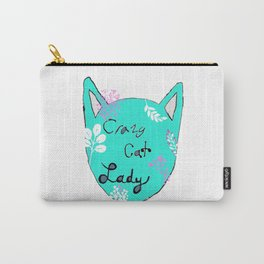 Crazy Cat Lady - Teal Carry-All Pouch
