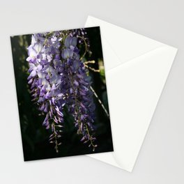 Wisteria With Garden Background Stationery Cards