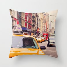 NYC Yellow Cab Throw Pillow