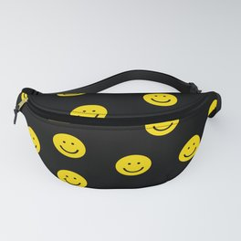 Smiley faces yellow happy simple rainbow colors pattern smile face kids nursery boys girls decor Fanny Pack