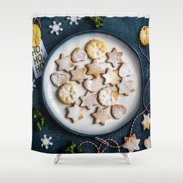 Santa's Christmas Cookies (Color) Shower Curtain