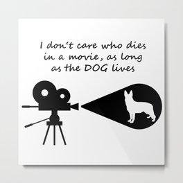 Dog in a movie Metal Print