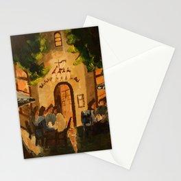 Cozy Bavarian Tavern in a Warm Munich Summer Night Stationery Cards