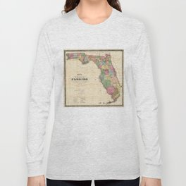 Vintage Map of Florida (1870)  Long Sleeve T-shirt
