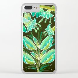 Irish Garden, Lime Green Flowers Dance in Joy Clear iPhone Case