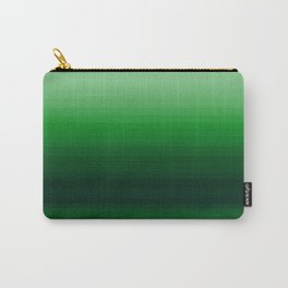 Emerald Green Stripe Design Carry-All Pouch