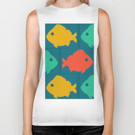 colourful fishes Biker Tank