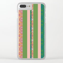 zakiaz bohemian stripe Clear iPhone Case