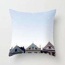 Moonlit Painted Ladies Throw Pillow