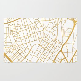 SHEFFIELD ENGLAND CITY STREET MAP ART Rug