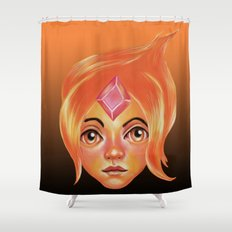 The Flame Princess Shower Curtain