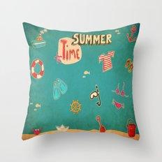 SUMMER TIME Throw Pillow
