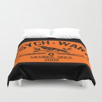 psych Duvet Covers featuring Psych Ward Member by ImpART by Torg