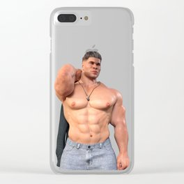 Man with shirt Clear iPhone Case