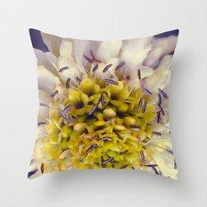 Flower Purple Yellow Throw Pillow