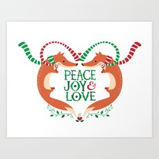 Peace, Joy, Love Art Print
