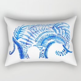 blue elephant watercolor Rectangular Pillow