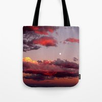 utah Tote Bags featuring Utah Sunset by Jenna Weil