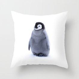 A little penguin  Throw Pillow